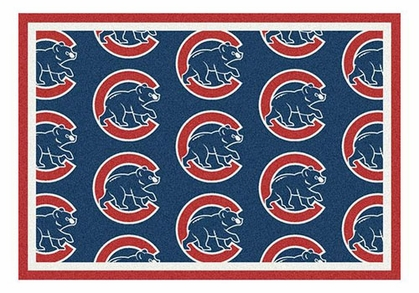 "Chicago Cubs 5'4"" x 7'8"" Premium Pattern Rug"
