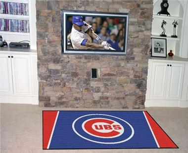 Chicago Cubs 5 Foot x 8 Foot Rug