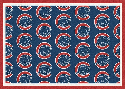 "Chicago Cubs 7'8 x 10'9"" Premium Pattern Rug"