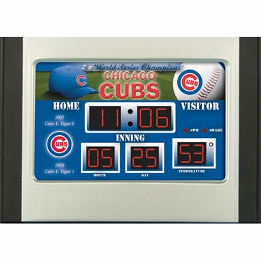 Chicago Cubs Alarm Clock Desk Scoreboard