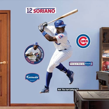 Chicago Cubs Alfonso Soriano Fathead Wall Graphic