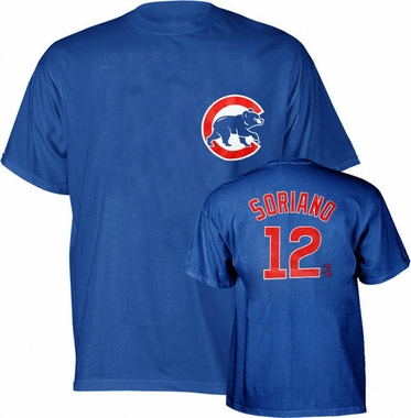 Chicago Cubs Alfonso Soriano YOUTH Name and Number T-Shirt