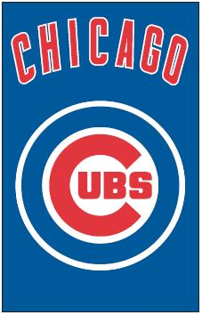 Chicago Cubs Applique Banner Flag