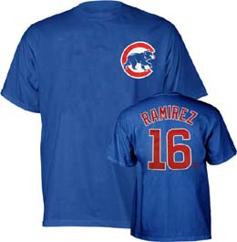 Chicago Cubs Aramis Ramirez Name and Number T-Shirt - X-Large
