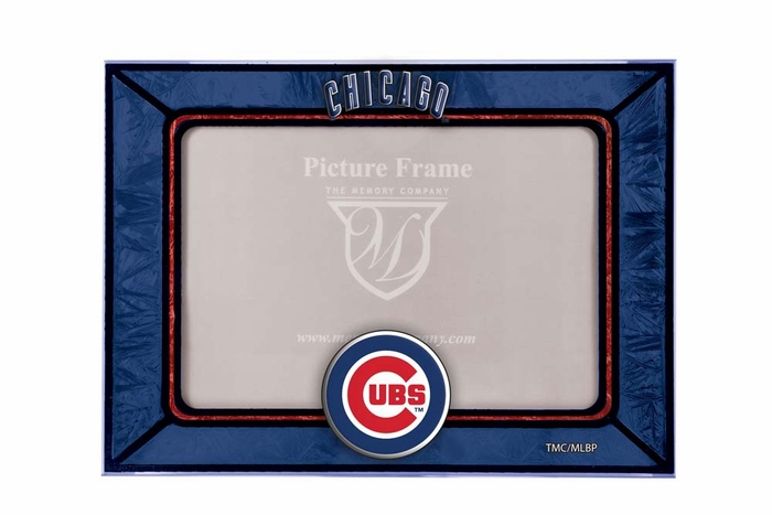 Chicago Cubs Art Glass Horizontal Frame