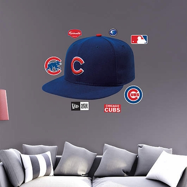 Chicago Cubs Ballcap Fathead Wall Graphic