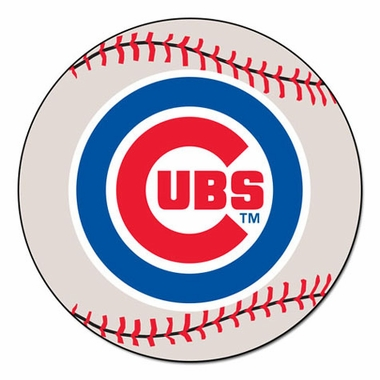 Chicago Cubs 27 Inch Baseball Shaped Rug
