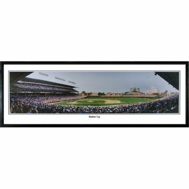 Chicago Cubs Batter UpFramed Panoramic Print