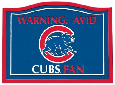 Chicago Cubs Beware of Fan Sign