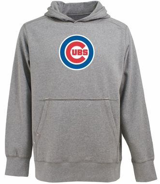 Chicago Cubs Big Logo Mens Signature Hooded Sweatshirt (Color: Gray)