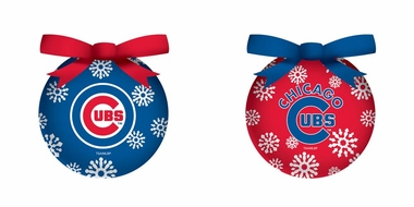 Chicago Cubs Boxed LED Ornament Set