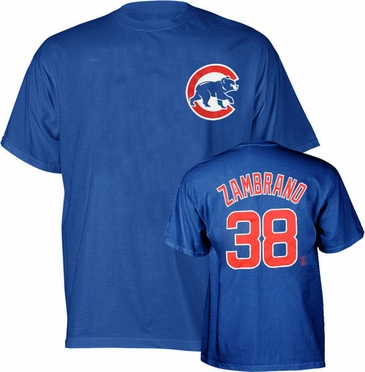 Chicago Cubs Carlos Zambrano Name and Number T-Shirt