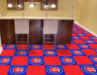 Chicago Cubs Carpet Tiles