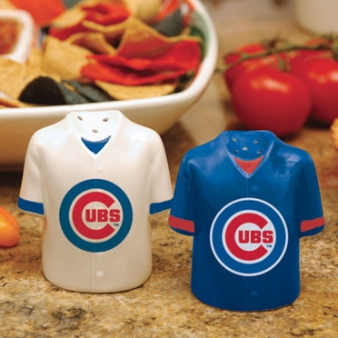 Chicago Cubs Ceramic Jersey Salt and Pepper Shakers