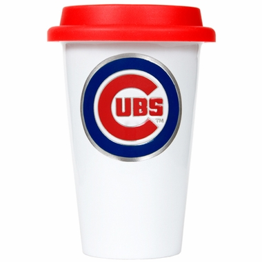 Chicago Cubs Ceramic Travel Cup (Team Color Lid)