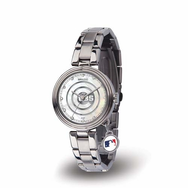 Chicago Cubs Charm Womens Watch