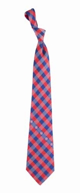 Chicago Cubs Check Poly Necktie