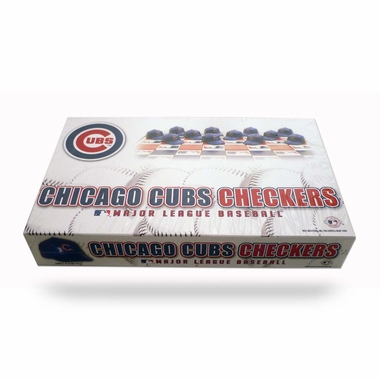 Chicago Cubs Checkers Set
