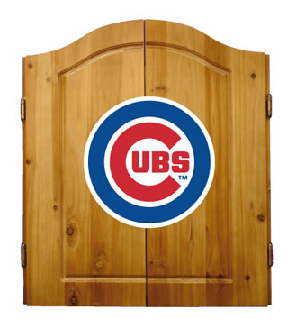 Chicago Cubs Complete Dart Cabinet