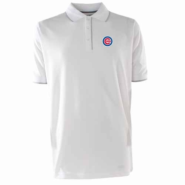 Chicago Cubs Mens Elite Polo Shirt (Color: White)