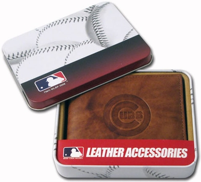 Chicago Cubs Embossed Leather Bifold Wallet