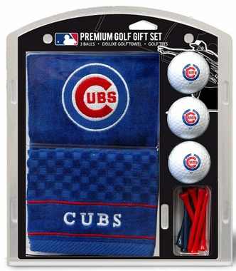 Chicago Cubs Embroidered Towel Golf Gift Set