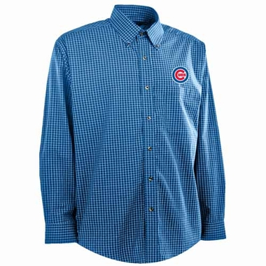 Chicago Cubs Mens Esteem Button Down Dress Shirt (Team Color: Royal)