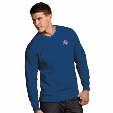 Chicago Cubs Mens Executive Crew Sweater (Team Color: Royal)