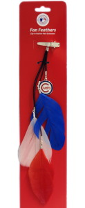 Chicago Cubs Team Color Feather Hair Clip