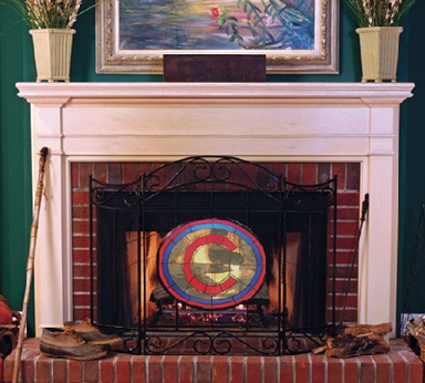 Chicago Cubs Fireplace Screen