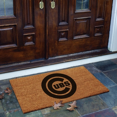 Chicago Cubs Flocked Coir Doormat