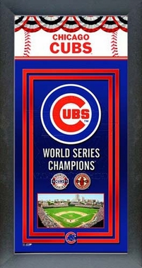Chicago Cubs Framed Championship Banner