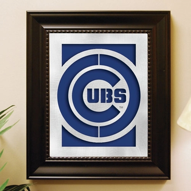 Chicago Cubs Framed Laser Cut Metal Wall Art