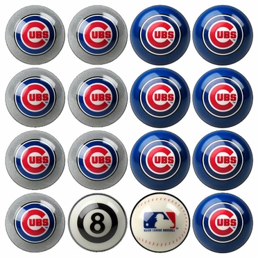 Chicago Cubs Home and Away Complete Billiard Ball Set