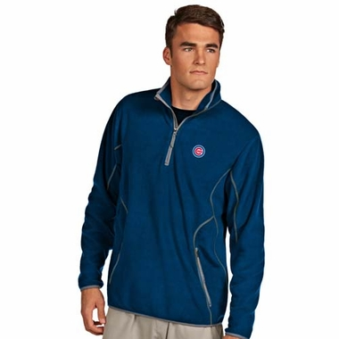 Chicago Cubs Mens Ice Polar Fleece Pullover (Color: Royal)
