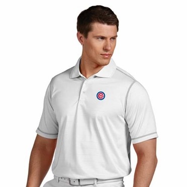 Chicago Cubs Mens Icon Polo (Color: White)