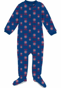 Chicago Cubs Infant Footed Coverall Sleeper