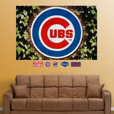 Chicago Cubs Ivy Logo Mural Fathead Wall Graphic