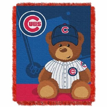 Chicago Cubs Jacquard BABY Throw Blanket