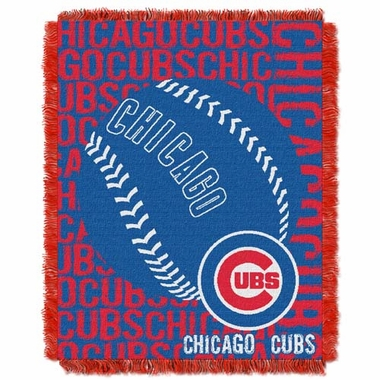Chicago Cubs Jacquard Woven Throw Blanket