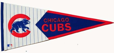 Chicago Cubs Large Wool Pennant