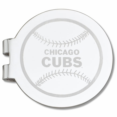 Chicago Cubs Laser Engraved Money Clip