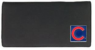 Chicago Cubs Leather Checkbook Cover