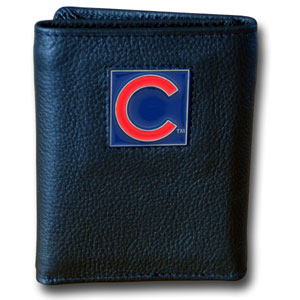 Chicago Cubs Leather Trifold Wallet (F)