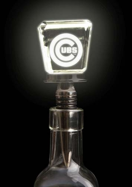 Chicago Cubs LED Wine Stopper Laser Etched