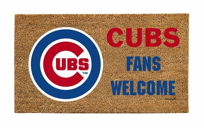 Chicago Cubs Lighted Coir Mat