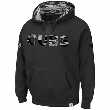 "Chicago Cubs Majestic ""Catcher's Box"" Camouflage Sweatshirt - Black"