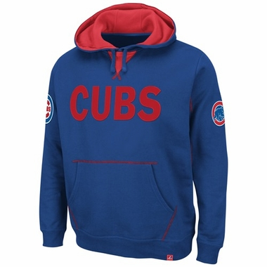 """Chicago Cubs Majestic """"Fly Ball"""" Hooded Sweatshirt - Royal"""