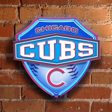 Chicago Cubs Neon Shield Wall Lamp