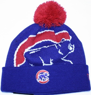 Chicago Cubs New Era MLB Woven Biggie Cuffed Knit Hat